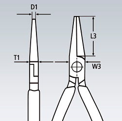 Круглогубцы KNIPEX короткие губки