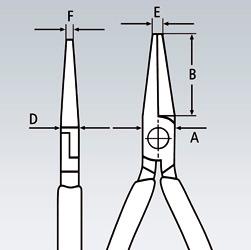 Прецизионные плоскогубцы захватные для электроники KNIPEX