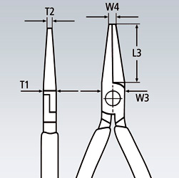 Плоскогубцы монтажные для электроники KNIPEX