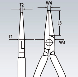 Плоскогубцы механика KNIPEX