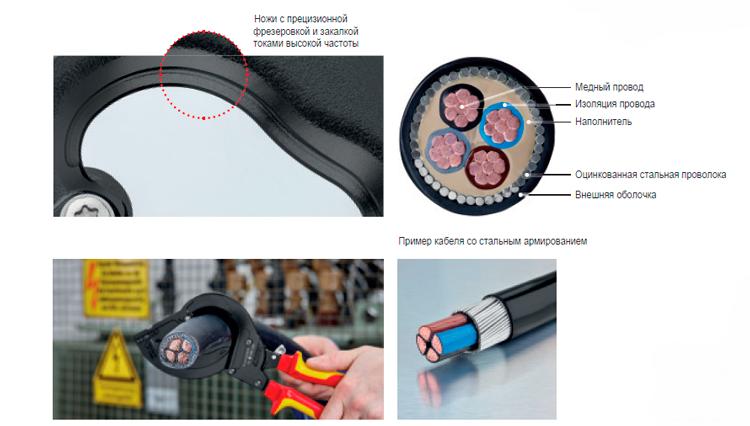 Резак для кабеля со стальным армированием
