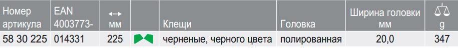 Клещи гончара (кусачки для черепицы) KNIPEX 58 30 225