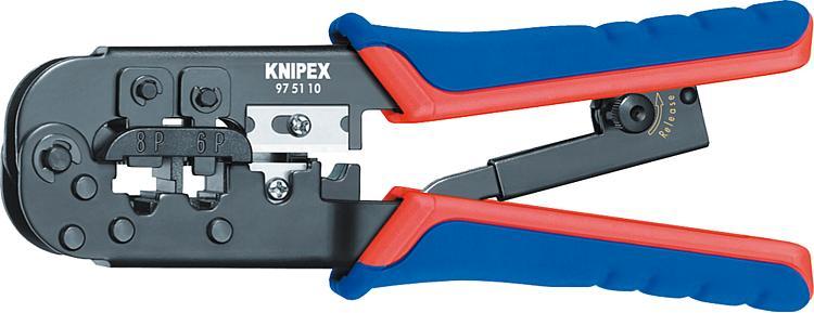 Инструмент для опрессовки штекеров типа Western KNIPEX 97 51 10 KN-975110